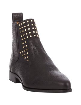 studded-pull-on-ankle-boots by chloé