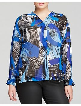brushstroke-print-blouse by vince-camuto