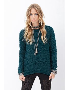 textured-loop-knit-sweater by forever-21
