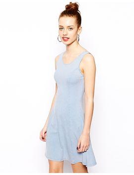 new-look---robe-trapèze-sans-manches-délavée-à-lacide by new-look