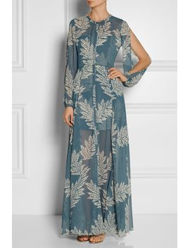 the-power-hour-printed-georgette-and-jacquard-maxi-dress by sass-&-bide
