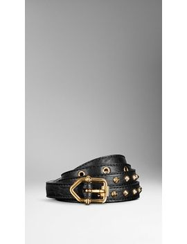 studded-london-leather-belt by burberry