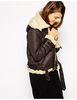 asos-jacket-in-faux-shearling-with-hood by asos-collection