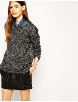 asos-jumper-in-slouchy-marl by asos-collection