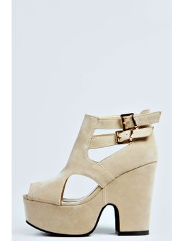 madeline-cut-out-double-buckle-chunky-heels by boohoo
