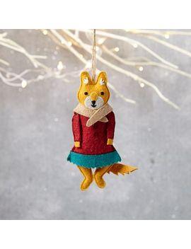 mimi-kirchner-forest-animal-ornament---girl-fox by west-elm