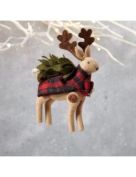 erika-barratt-woodland-deer-ornament---buck by west-elm