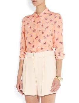the-outnetprinted-silk-crepe-de-chine-shirt by miu-miu