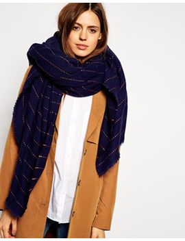 asos-oversized-pinstripe-scarf by asos-collection