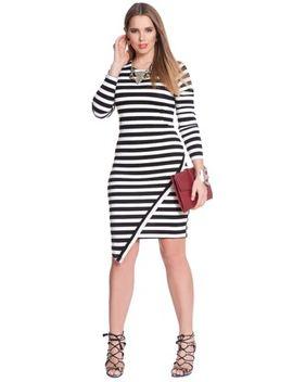 asymmetrical-hem-striped-dress by eloquii