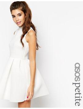 asos-petite-funnel-neck-skater-dress by asos-petite