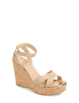 papyrus-cork-wedge-sandal by jimmy-choo