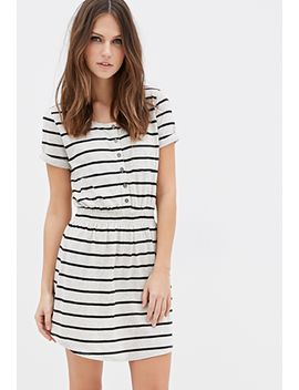 striped-smocked-dress by forever-21