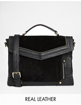 asos-leather-and-suede-mix-zippy-satchel-bag by asos-collection