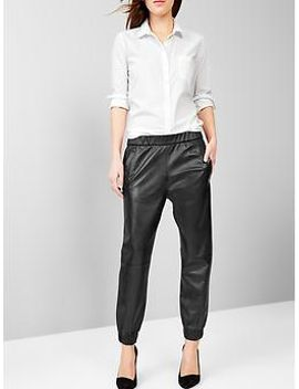 leather-jogger-pants by gap