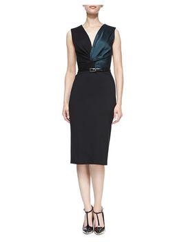 sleeveless-twisted-sheath-dress-with-belt,-black_evergreen by jason-wu