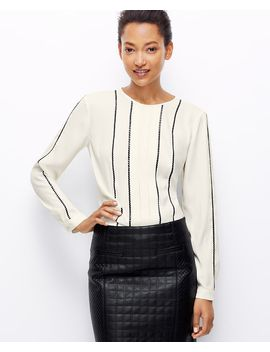 sequin-trim-blouse by ann-taylor