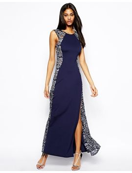 lipsy-maxi-dress-with-lace-panels by lipsy