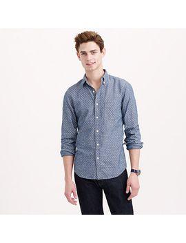 slim-chambray-shirt-in-dot by jcrew