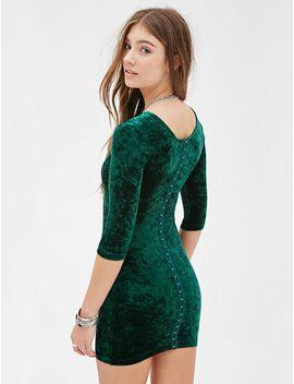 green-long-sleeve-bodycon-dress by sheinside