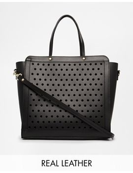 asos-leather-bag-with-perforated-front-panel by asos-collection