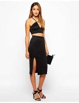 oh-my-love-midi-pencil-skirt-with-thigh-split by oh-my-love