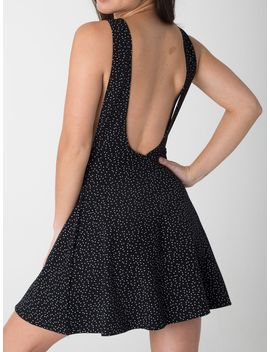 polka-dot-print-ponte-sleeveless-skater-dress by american-apparel