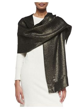 metallic-silk-wrap,-black_gold by ilana-wolf