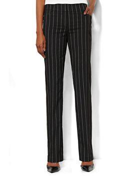 bleecker-street-straight-leg-pant---pinstripe---petite by new-york-&-company