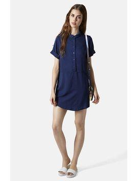 denim-shirtdress by topshop