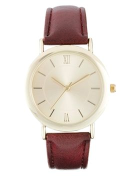 asos-vintage-style-boyfriend-strap-watch by asos-collection