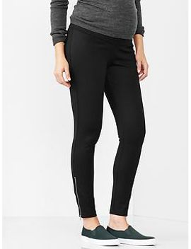 ponte-outside-zip-leggings by gap