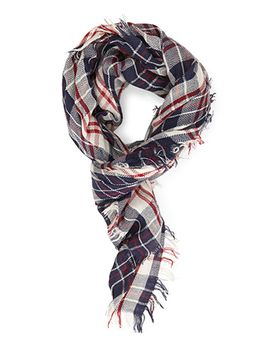 woven-plaid-scarf by forever-21