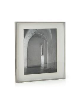 brushed-silver-11x14-picture-frame by crate&barrel