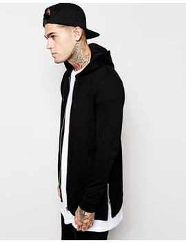 asos-longline-zip-up-hoodie-with-side-zips by asos