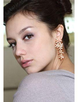 gold-flower-shape-earrings by lookbook-store