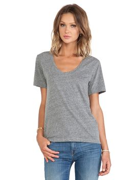 albie-heather-grey-knit-v-neck by velvet-by-graham-&-spencer