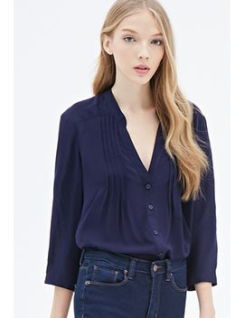 pintucked-button-down-blouse by forever-21