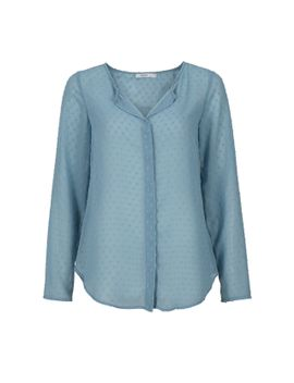sheer-swiss-dot-blouse by rickis