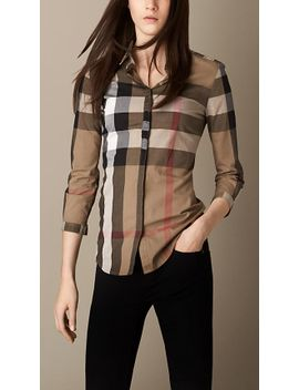 check-cotton-shirt by burberry