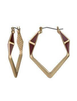 enamel-geo-hoop-earrings by sam-edelman