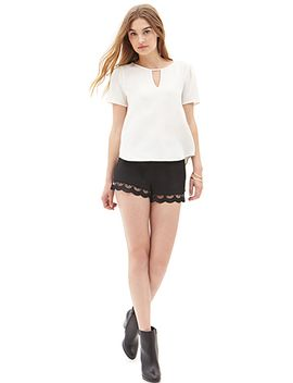 crepe-cutout-blouse by forever-21