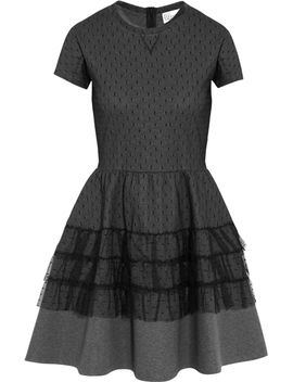 point-desprit-and-jersey-mini-dress by redvalentino