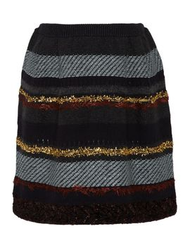 danielle-striped-wool-blend-mini-skirt by tory-burch