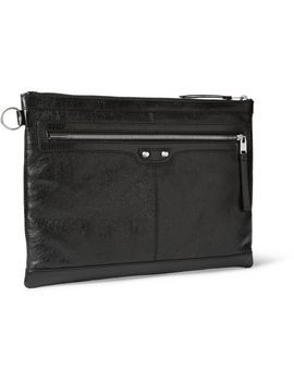 large-creased-leather-pouch by balenciaga