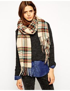 asos-check-scarf-with-tassels by asos-collection