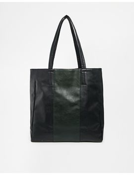 asos-contrast-stripe-shopper-bag by asos-collection