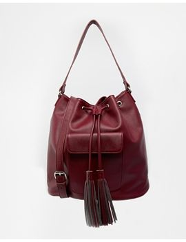 asos-duffle-bag-with-pocket-and-tassle-detail by asos-collection