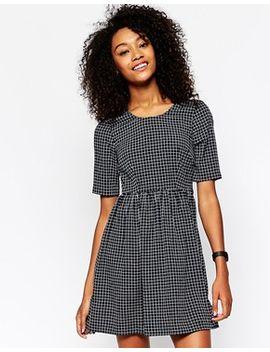 vero-moda-grid-print-skater-dress by vero-moda