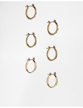 asos-pack-of-3-20mm-hoop-earrings by asos-collection